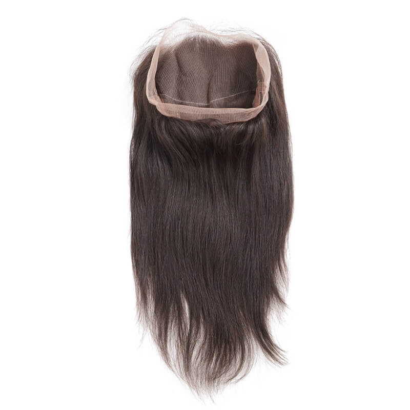Unprocessed Virgin Hair Silky Straight 360 Lace Frontal Black Color 360lf001 0