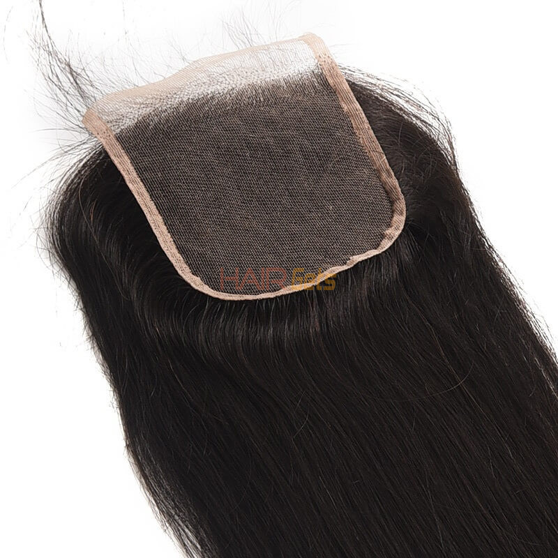 Hot sale Virgin Straight Hair 4x4 Lace Closure Back 0