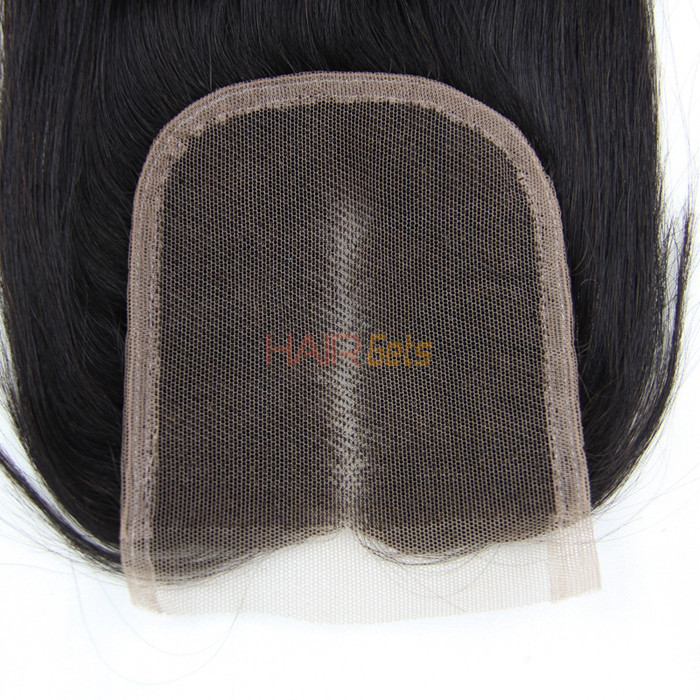 Hot sale Virgin Straight Hair 4x4 Lace Closure Back 1