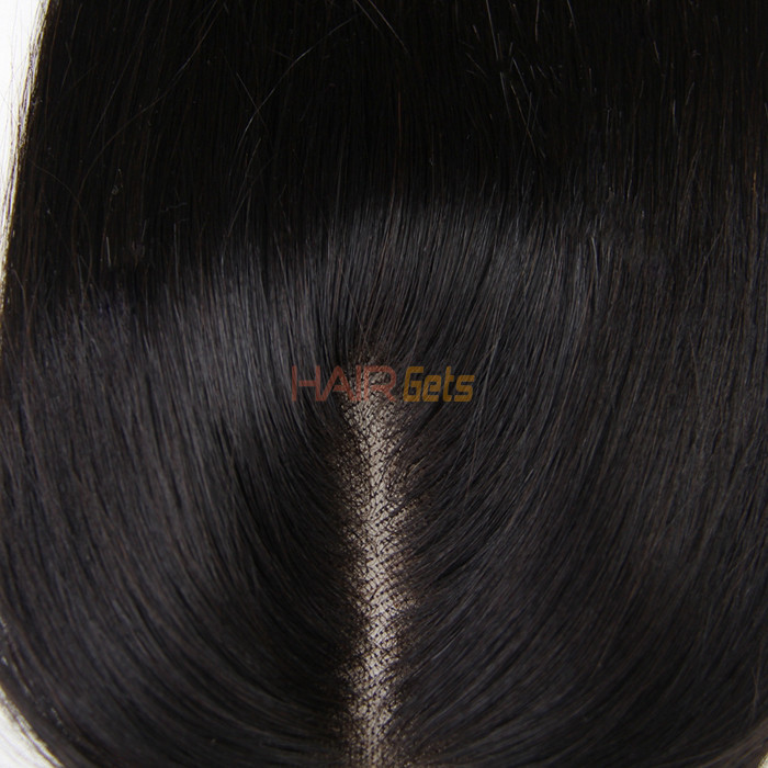 Hot sale Virgin Straight Hair 4x4 Lace Closure Back 2