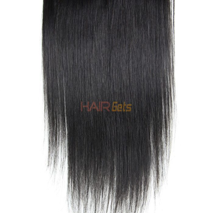 Hot sale Virgin Straight Hair 4x4 Lace Closure Back 3