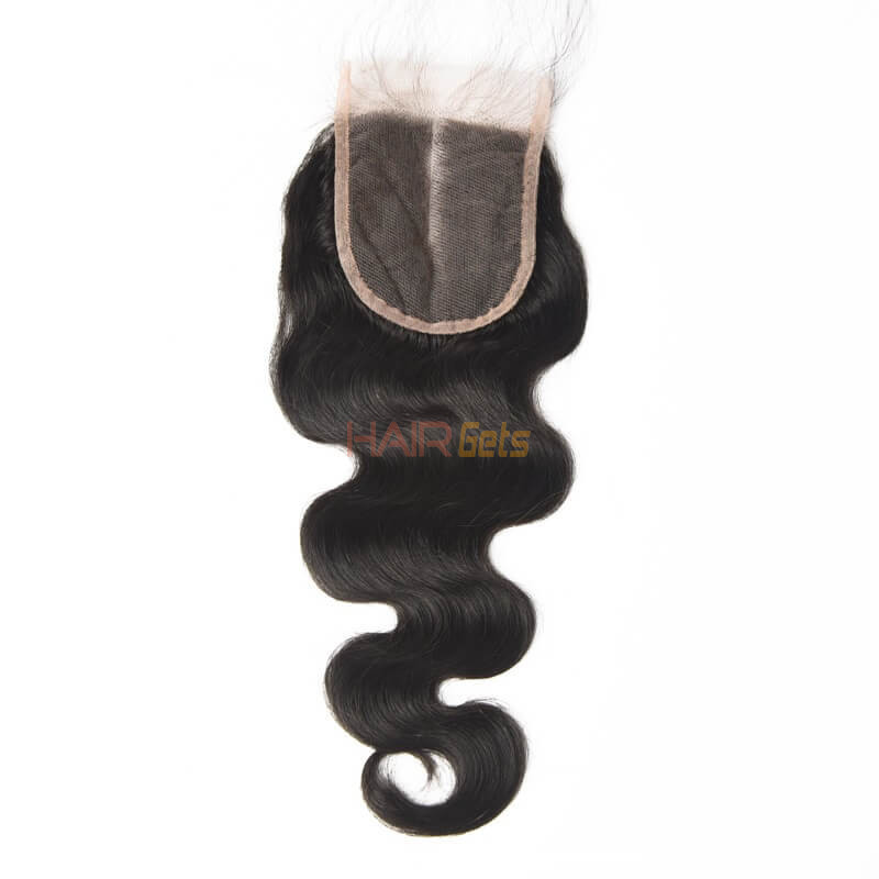 4*4 Unprocessed Virgin Hair Body Wave Lace Closure Natural Color 2