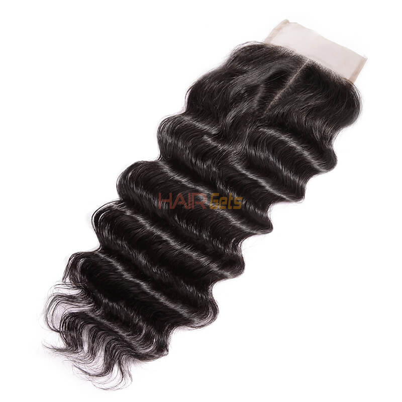 Smooth Virgin Hair Lace Closure,4*4 Loose Curly Closure For Women 0
