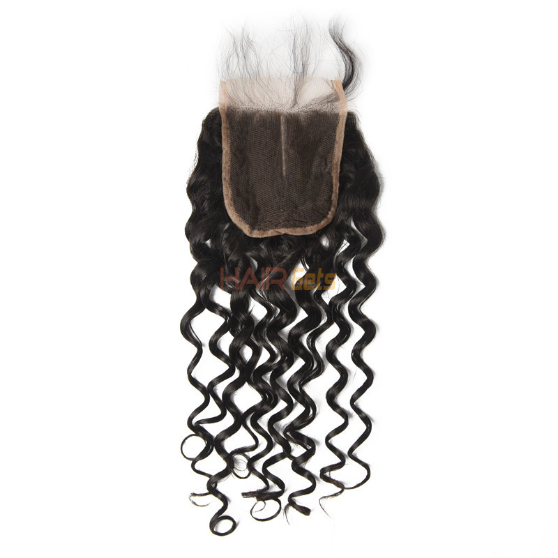 Cheapest Virgin Hair Water Wave Lace Closure, Natural Back 2