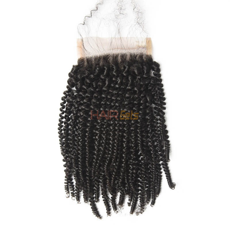 Best Selling 4x4 Kinky Curly Virgin Human Hair Lace Closure For Women 0