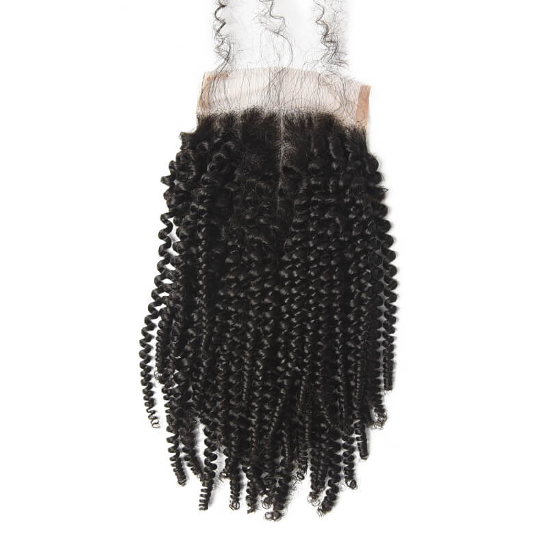 Best Selling 4x4 Kinky Curly Virgin Human Hair Lace Closure For Women lc008 1