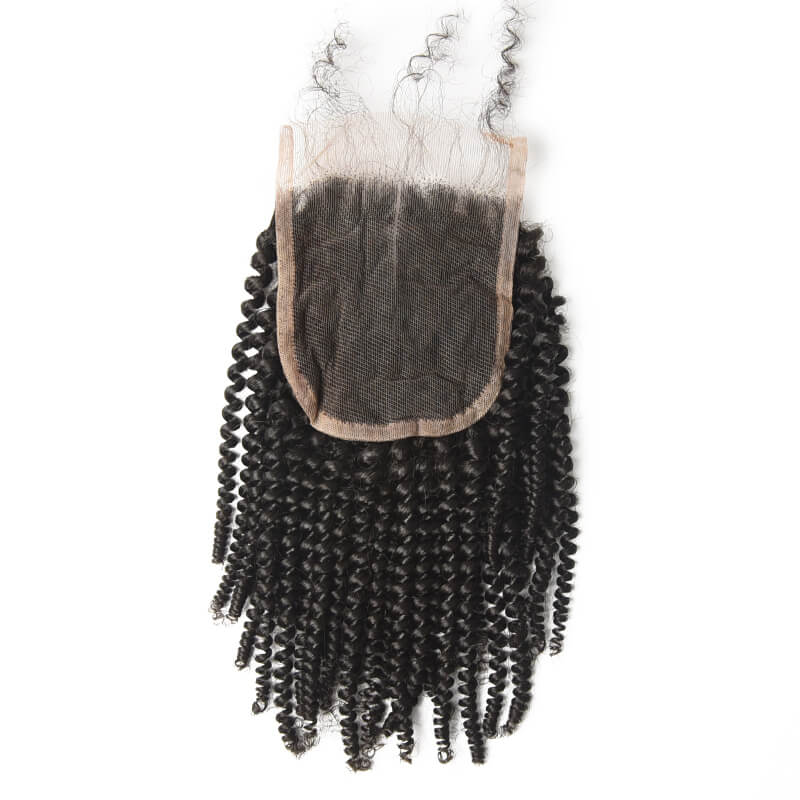 Best Selling 4x4 Kinky Curly Virgin Human Hair Lace Closure For Women lc008 2