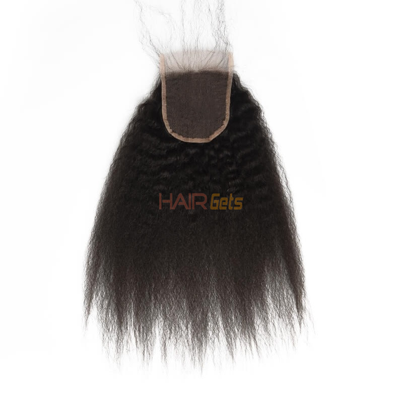 Kinky Straight Lace Closure Made by Real Virgin Hair On Sale 0