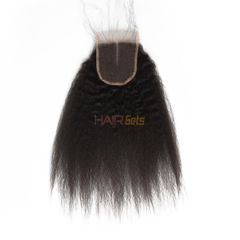 Kinky Straight Lace Closure Made by Real Virgin Hair On Sale 2