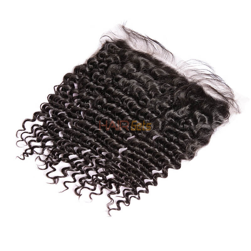 Cheapest Virgin Hair Deep Wave Lace Frontal, Natural Back 0