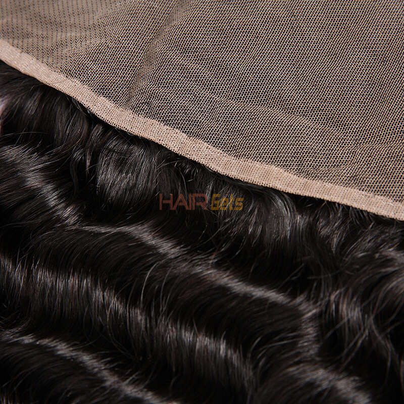 Cheapest Virgin Hair Deep Wave Lace Frontal, Natural Back 3