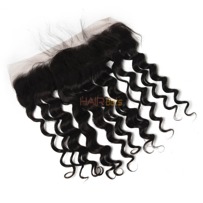Human Hair 13*4 Loose Curly Lace Frontal, Smooth & Shiny 8-28 Inches 0