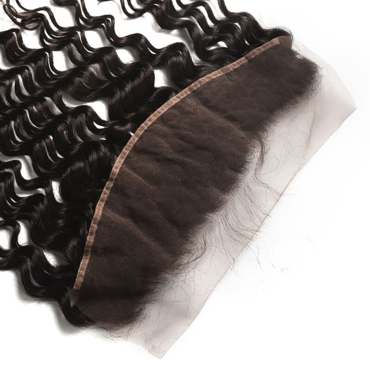 Soft Like Silk Brazilian Hair Frontal, Water Wave Lace Frontal 13x4 Inches lf007 2