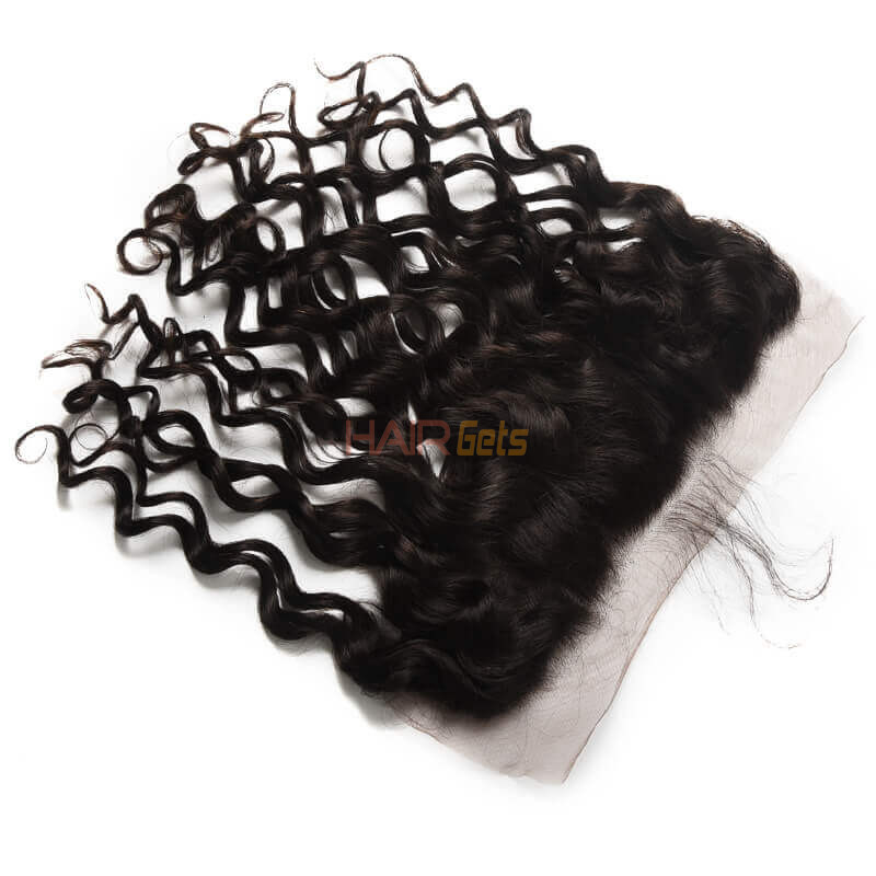 13*4 Unprocessed Virgin Hair Natural Wave Lace Frontal Natural Color 1