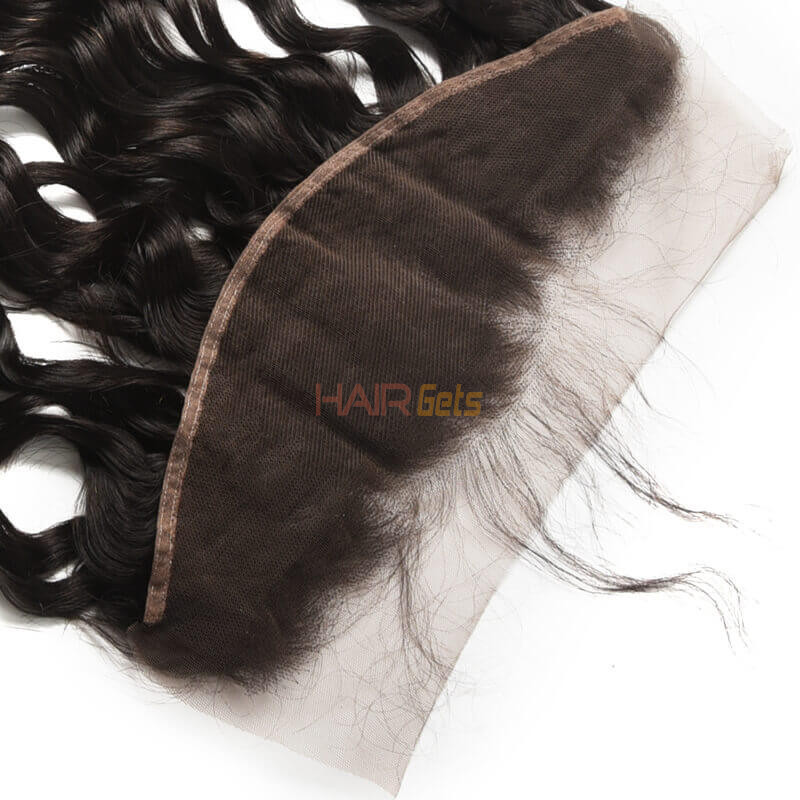 13*4 Unprocessed Virgin Hair Natural Wave Lace Frontal Natural Color 2