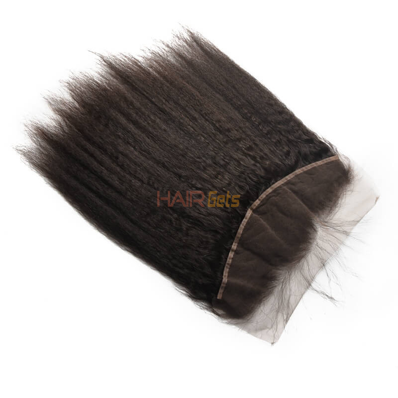 Hot sale Virgin Kinky Straight Hair 13x4 Lace Frontal Back 1
