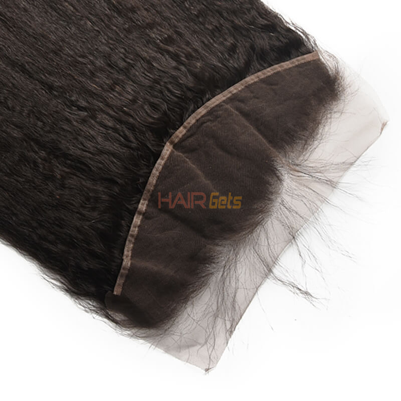 Hot sale Virgin Kinky Straight Hair 13x4 Lace Frontal Back 2