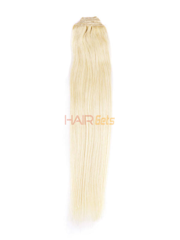 Bleach White Blonde(#613) Ultimate Straight Clip In Remy Hair Extensions 9 Pieces 2
