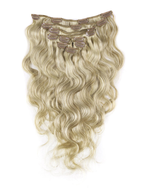Golden Brown/Blonde(#F12-613) Ultimate Body Wave Clip In Remy Hair Extensions 9 Pieces cih105 0