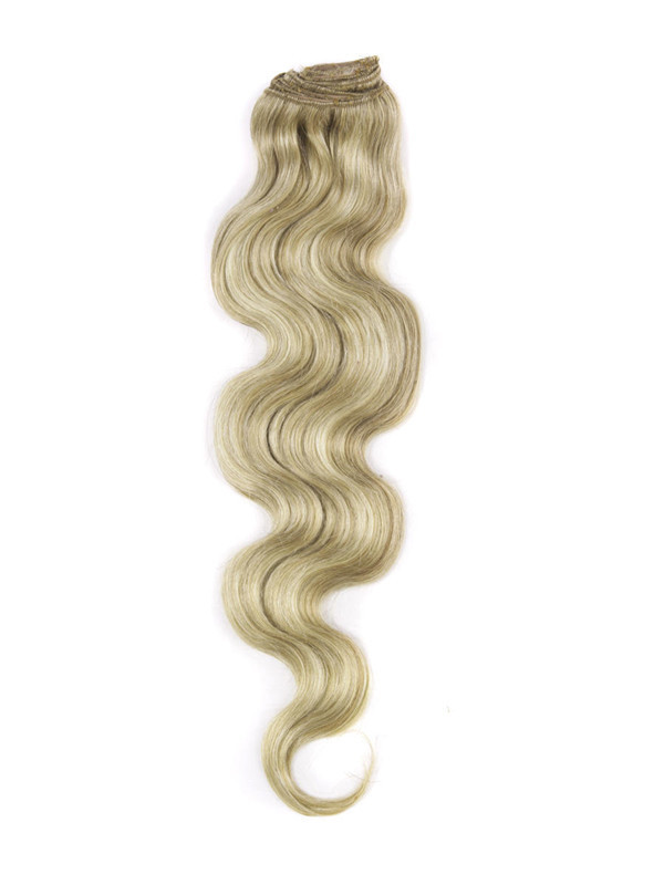 Golden Brown/Blonde(#F12-613) Ultimate Body Wave Clip In Remy Hair Extensions 9 Pieces cih105 2