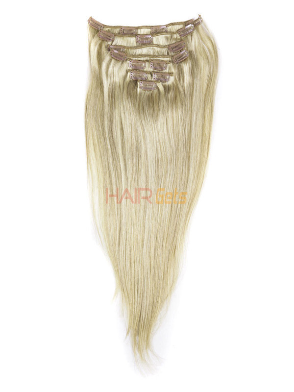 Golden Brown/Blonde(#F12-613) Ultimate Straight Clip In Remy Hair Extensions 9 Pieces 1