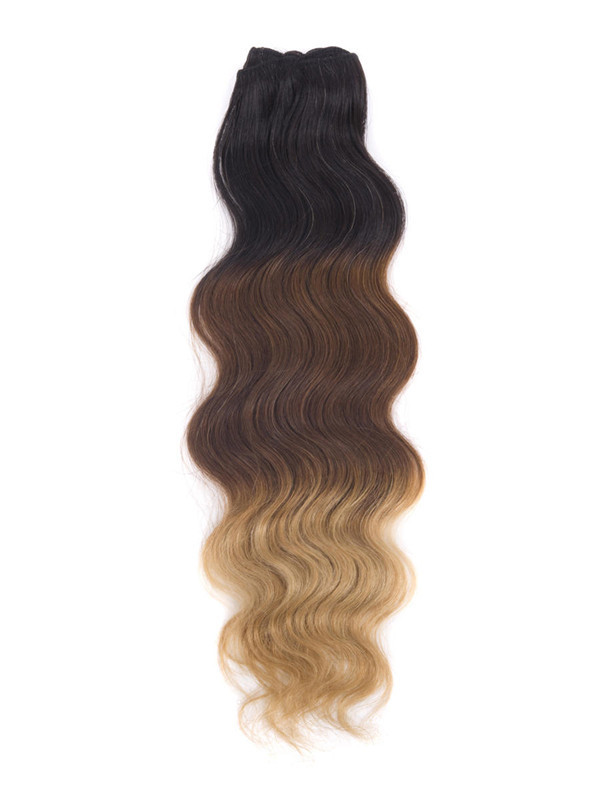 Triple Ombre(#Ombre) Deluxe Straight Clip In Human Hair Extensions 7 Pieces cih110 0