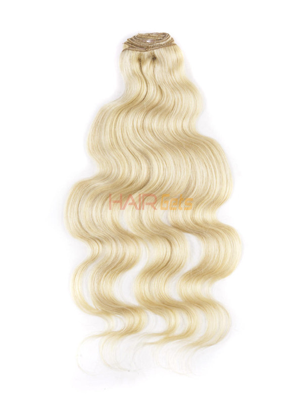 Ash/White Blonde(#P18-613) Ultimate Body Wave Clip In Remy Hair Extensions 9 Pieces 1