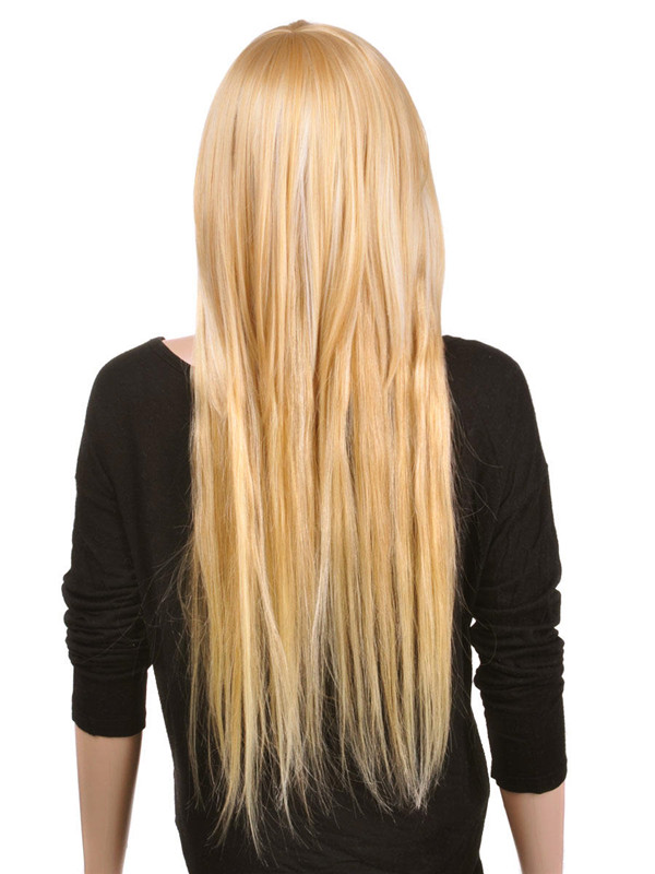 Ash/White Blonde(#P18-613) Premium Straight Clip In Hair Extensions 7 Pieces cih121 0