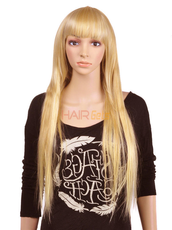 Ash/White Blonde(#P18-613) Premium Straight Clip In Hair Extensions 7 Pieces 1
