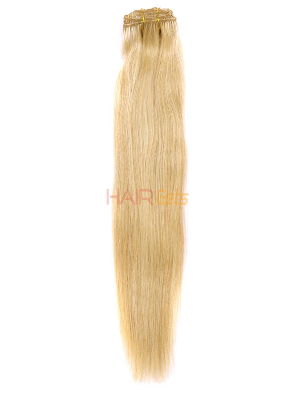 Ash/White Blonde(#P18-613) Premium Straight Clip In Hair Extensions 7 Pieces 3