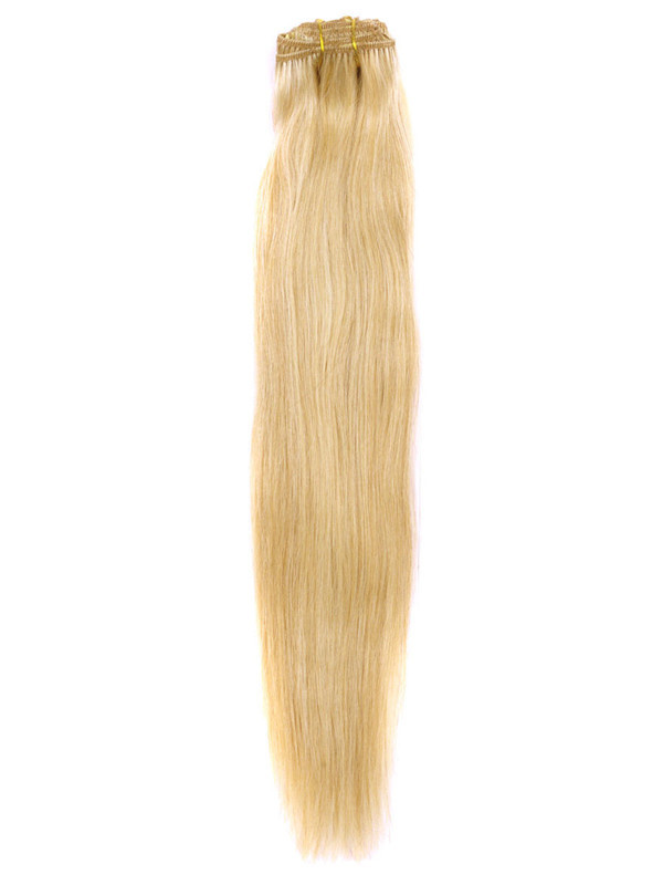 Ash/White Blonde(#P18-613) Premium Straight Clip In Hair Extensions 7 Pieces cih121 3