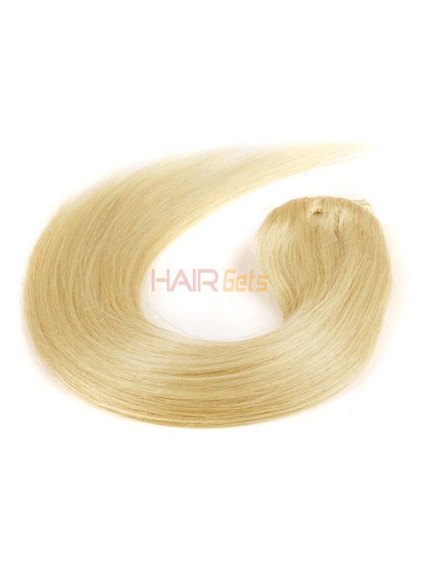 Ash/White Blonde(#P18-613) Ultimate Straight Clip In Remy Hair Extensions 9 Pieces 2