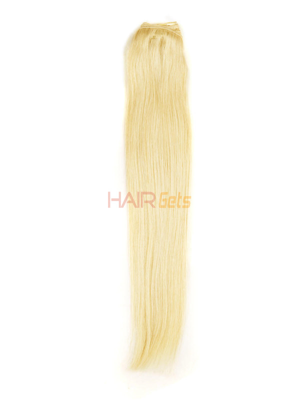 Ash/White Blonde(#P18-613) Ultimate Straight Clip In Remy Hair Extensions 9 Pieces 3