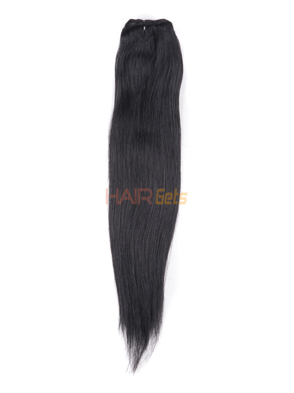 Jet Black(#1) Straight Ultimate Clip In Remy Hair Extensions 9 Pieces 3