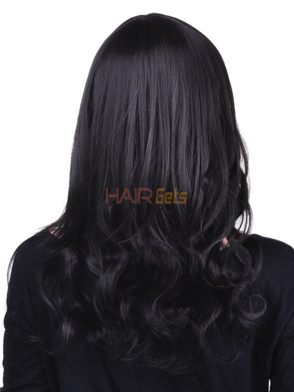 Natural Black(#1B) Premium Body Wave Clip In Hair Extensions 7 Pieces 0