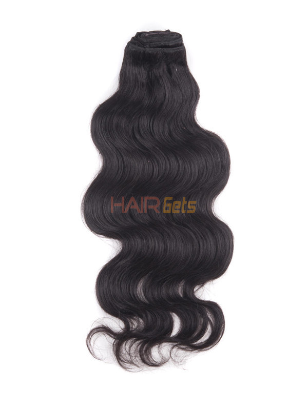 Natural Black(#1B) Ultimate Body Wave Clip In Remy Hair Extensions 9 Pieces 1