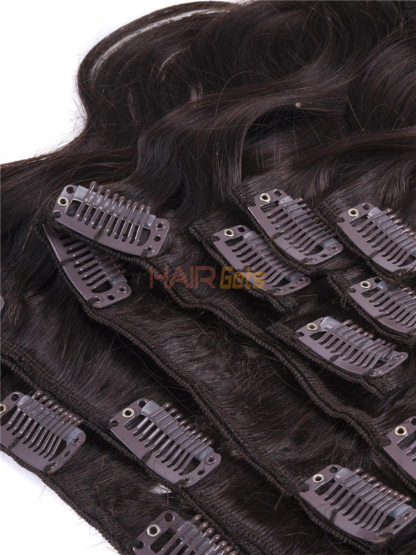 Dark Brown(#2) Ultimate Body Wave Clip In Remy Hair Extensions 9 Pieces 1