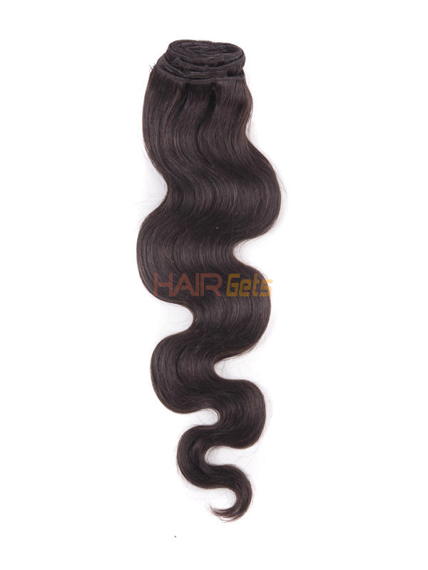 Dark Brown(#2) Ultimate Body Wave Clip In Remy Hair Extensions 9 Pieces 2