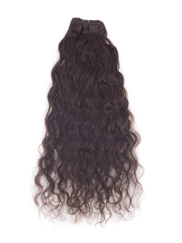 Dark Brown(#2) Premium Kinky Curl Clip In Hair Extensions 7 Pieces cih022 2