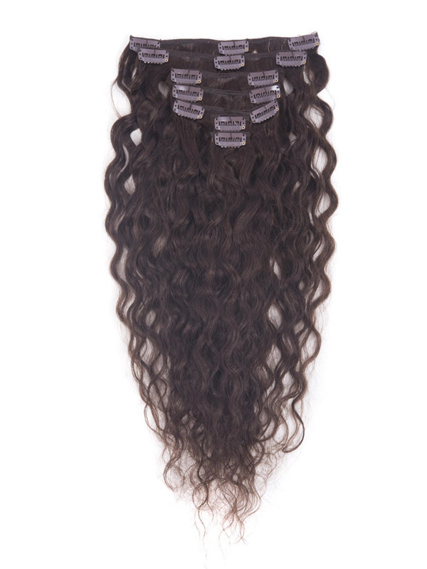 Dark Brown(#2) Ultimate Kinky Curl Clip In Remy Hair Extensions 9 Pieces-np cih024 1