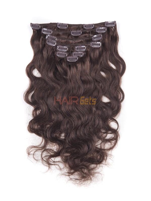 Medium Brown(#4) Ultimate Body Wave Clip In Remy Hair Extensions 9 Pieces 2
