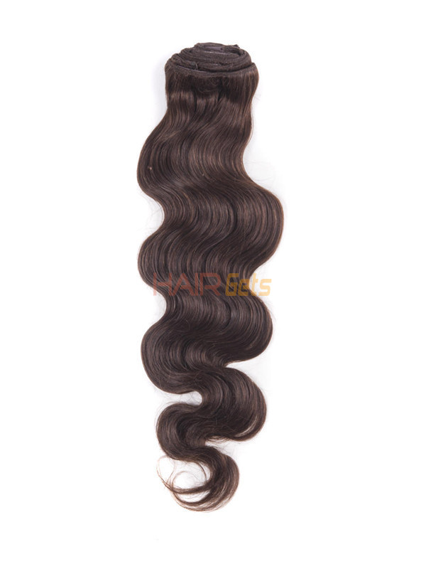 Medium Brown(#4) Ultimate Body Wave Clip In Remy Hair Extensions 9 Pieces 3