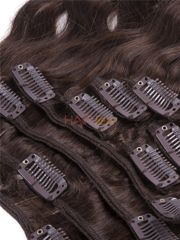 Medium Brown(#4) Ultimate Body Wave Clip In Remy Hair Extensions 9 Pieces 4