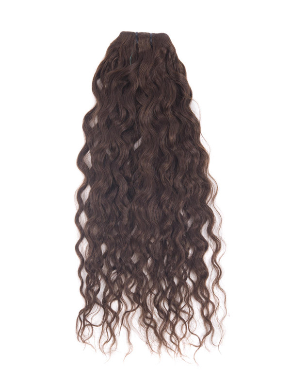 Medium Brown(#4) Premium Kinky Curl Clip In Hair Extensions 7 Pieces cih031 3