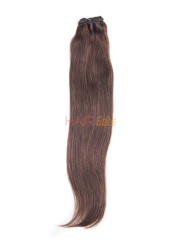 Medium Brown(#4) Ultimate Straight Clip In Remy Hair Extensions 9 Pieces 2
