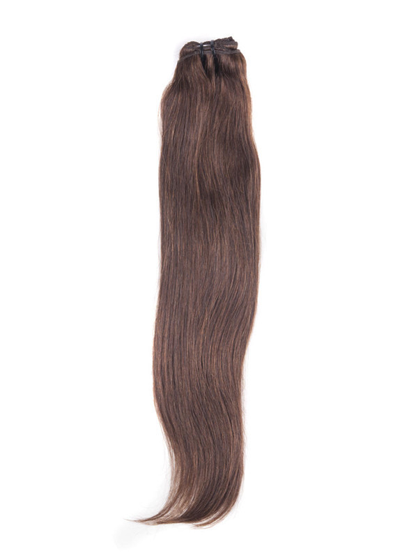 Medium Brown(#4) Ultimate Straight Clip In Remy Hair Extensions 9 Pieces cih036 2