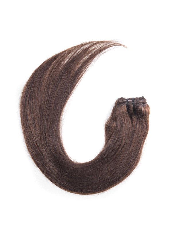 Medium Brown(#4) Ultimate Straight Clip In Remy Hair Extensions 9 Pieces cih036 3