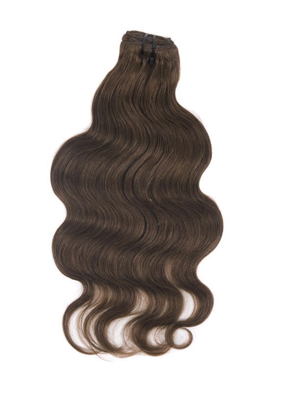 Medium Chestnut Brown(#6) Ultimate Body Wave Clip In Remy Hair Extensions 9 Pieces cih039 2