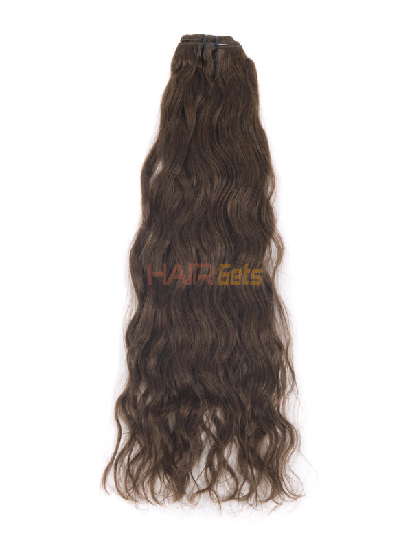 Medium Chestnut Brown(#6) Deluxe Kinky Curl Clip In Human Hair Extensions 7 Pieces 1