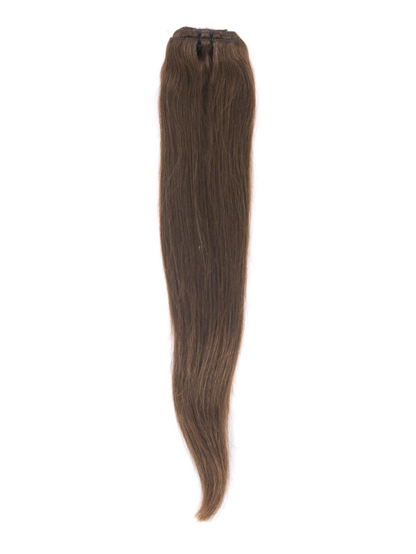 Medium Chestnut Brown(#6) Deluxe Straight Clip In Human Hair Extensions 7 Pieces cih044 5